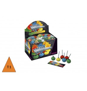 SACHET 6 BALLES FUMIGENES COULEURS ASSORTIES