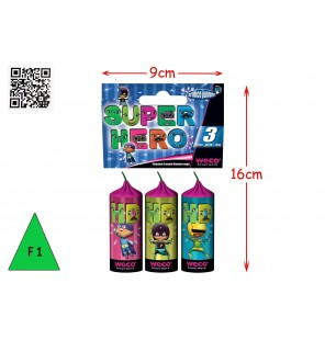 SACHET 3 FONTAINES SUPER HERO